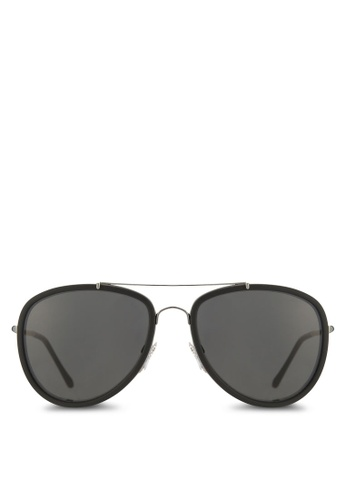 Burberry black Leather Pilot BE3090Q Sunglasses BU958GL66ERTMY_1