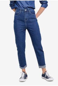 0d69818b5935 ZALORA blue Mom Fit Jeans 81C13AAE258E7EGS 1