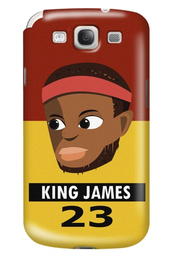 Wonder Cover black and brown and red and yellow and gold King James Matte Hard Case for Samsung Galaxy S3 WO617AC83AIUPH_1