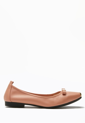PAZZION pink Bow Flats F05A5SHE3182DFGS_1