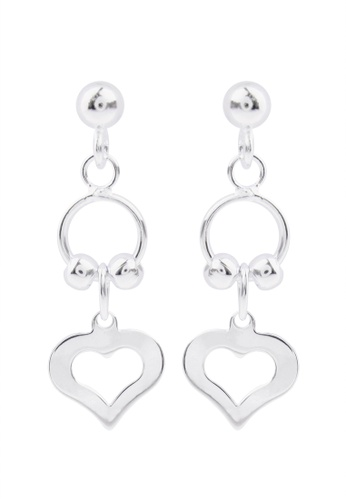 SC Tom Silver silver Heart Stud Dangling- ED035 SC872AC04IODPH_1