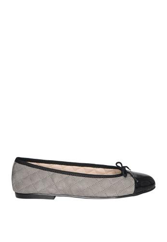 Covet grey French Sole Simple Ballet Flats CO331SH0JIVJPH_1