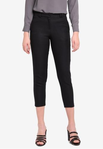 13f7588a72b622 Buy Dorothy Perkins Black Pique Trousers Online | ZALORA Malaysia
