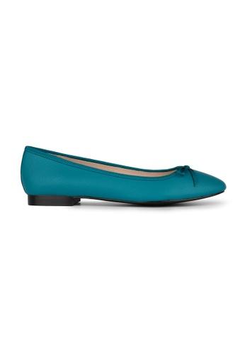 MAUD FRIZON blue Textured Pu Ballerinas With Grosgrain Bow 3650FSH5F521EBGS_1