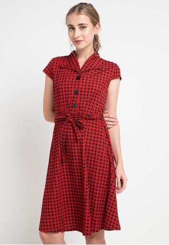 SIMPLICITY black and red Checked Mini Dress 92574AA3944E6FGS_1
