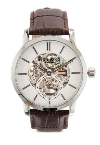 Stuhrling Original 'Legacyzalora 泳衣' 924.01 鏤空錶盤皮革手錶, 錶類, 飾品配件