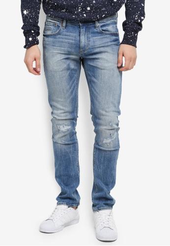 Superdry blue Slim Ripped Jean 30B5EAA1541620GS_1