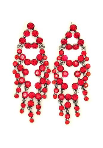 Istana Accessories red Anting Qeiza Ethnik Fashion Earring - Merah ECFB7AC7C7440EGS_1