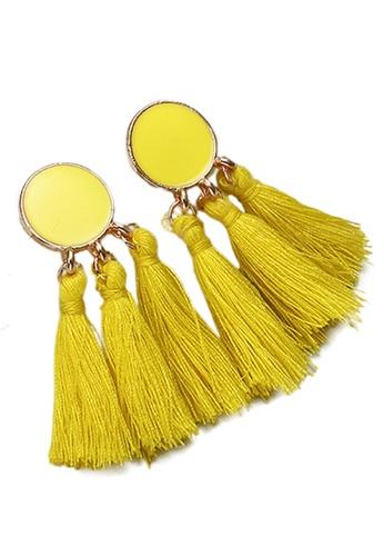 Sunnydaysweety yellow Tassel Drop Earrings CA030207YE 2897DAC6558592GS_1