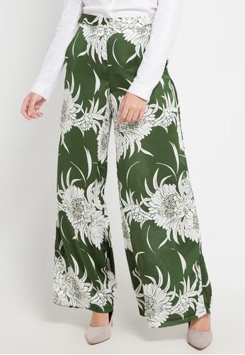 Allea by Itang Yunasz green Badriya Pants 47877AAADF8DA0GS_1