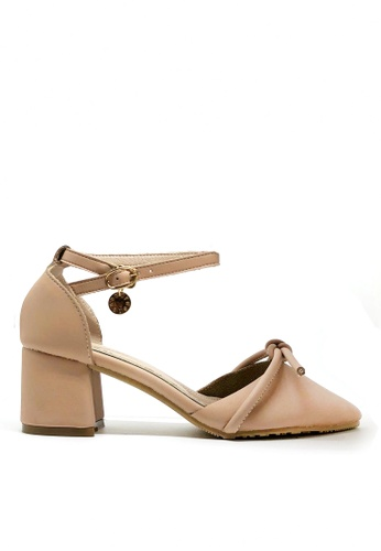 Twenty Eight Shoes beige Sweet Bow Mid Heel 546-42 4DB6DSH81CAD61GS_1