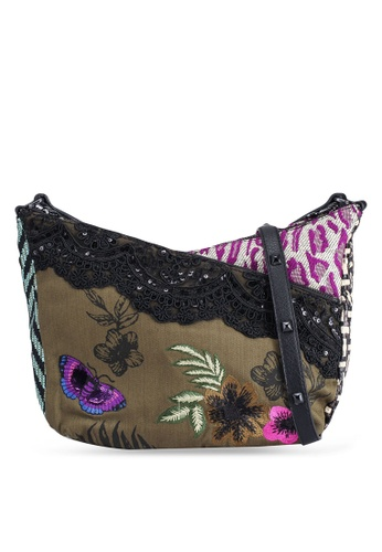 Desigual green Patch Fabric Mini Bag DE1E7AC098915BGS_1
