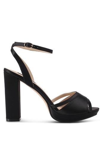 ZALORA black Cut-Out Detail Front Strap High Heels D6771SHDFC5B1FGS_1