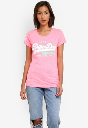 Superdry pink Premium Goods Tri Entry Tee SU137AA0SI2EMY_1