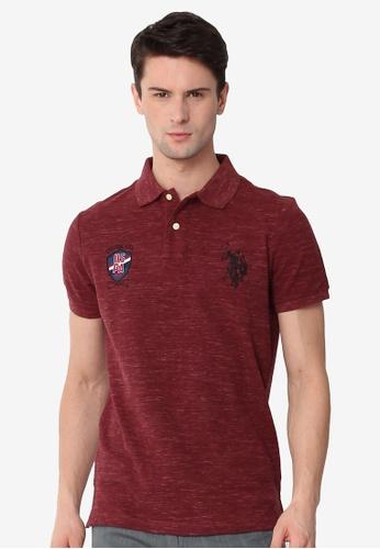 U.S. Polo Assn. red Men's Basic Classic Fit Sport Polo Shirt FDF55AAFA7B1FCGS_1