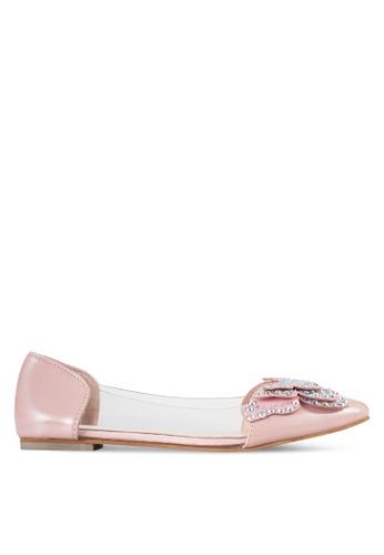 Sunnydaysweety 粉紅色 2018 新款蝴蝶平底鞋 A0201PI AE164SHFF69635GS_1