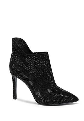 Sunnydaysweety black Korea New Full Diamond Pointed High-heeled Leather Boots RA07090BK SU443SH93PWOHK_1