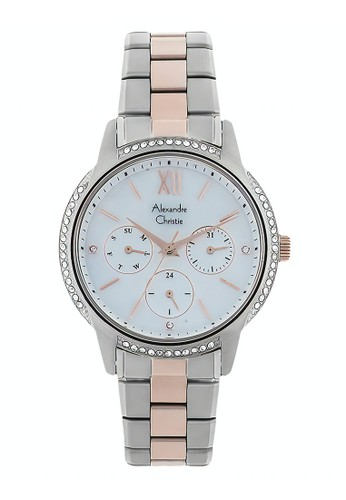 Alexandre Christie gold and silver Alexandre Christie Jam Tangan Wanita - Silver Rosegold- Stainless Steel