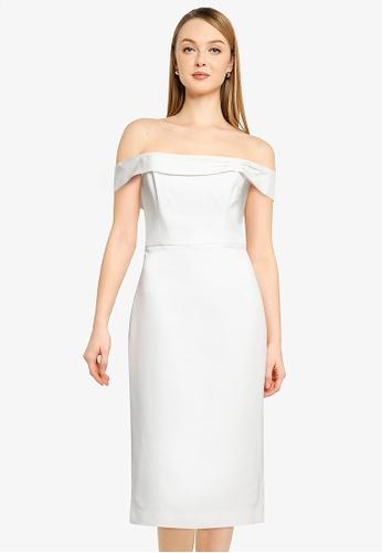 Forever New white Vera Off Shoulder Midi Dress 0C025AA8190E48GS_1