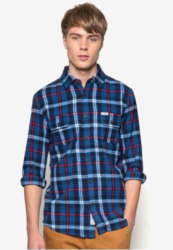 Windsesprit 中文or 格紋長袖襯衫, 服飾, 襯衫