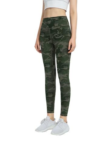 B-Code green ZWG1114-Lady Quick Drying Running Fitness Yoga Leggings-Green CC32FAA778669CGS_1