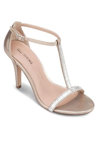 Midhurszalora taiwan 時尚購物網t T 字繞踝高跟鞋, 女鞋, 鞋
