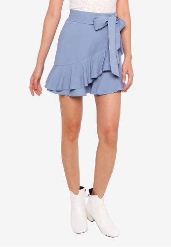 URBAN REVIVO blue Wrap Shorts 6E27CAADF685D4GS_1