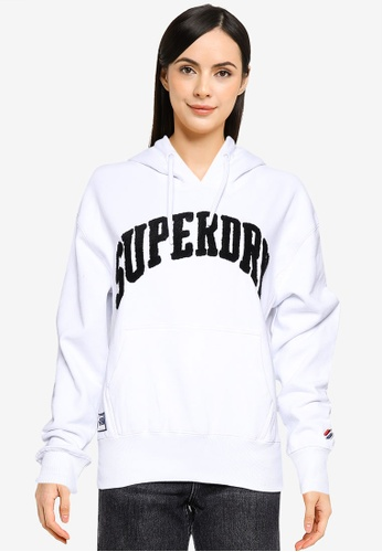 Superdry white Varsity Arch Mono Hood - Sportstyle Code 4A281AA9F315B1GS_1