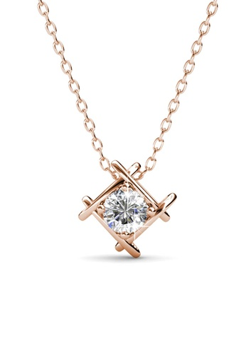 Her Jewellery silver Roxy Pendant (Rose Gold) - Crystals from Swarovski® HE210AC0FSR3SG_1