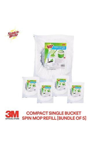 Scotch-Brite 3M Scotch Brite Compact Single Bucket Spin Mop Refill [SSMR][Bundle of 5] ED9D7ES653DA7BGS_1