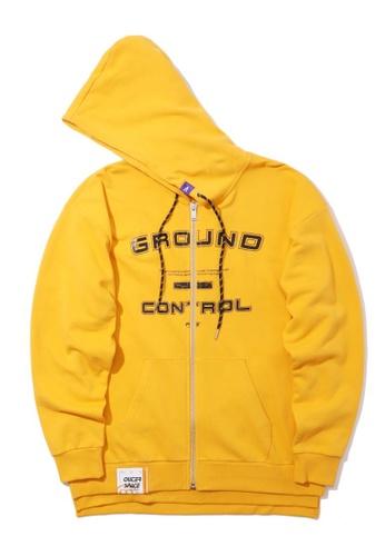 Fivecm yellow Ground Control zip hoodie 954F1AA3EC606EGS_1