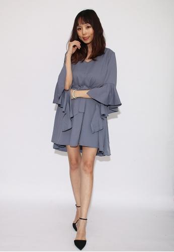 Seoul in Love blue Cena Dress in Blue 56B37AA670E7B6GS_1