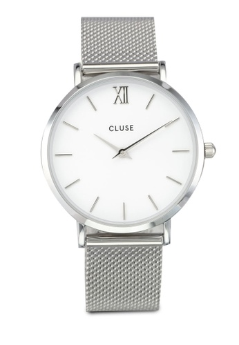 CLUSE silver Minuit Mesh Silver/White CL977AC0SA2SMY_1