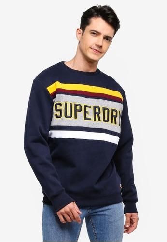 Superdry 海軍藍色 休閒刺繡棉T A2AA7AAF0B5074GS_1