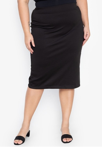elegant and sturdy package huge selection of new photos Plus Size Basic Midi Pencil Skirt