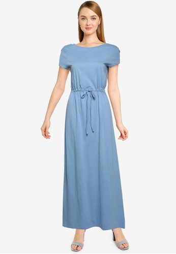 ONLY blue May Life String Maxi Dress D4B0EAAF9A8256GS_1