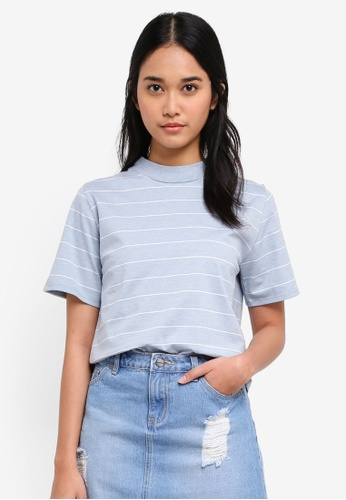 Penshoppe blue Relaxed Fit Tee 890A1AA293048EGS_1