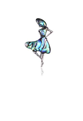 Glamorousky silver Fashion Elegant Blue Beauty Brooch 13B64AC02C298EGS_1