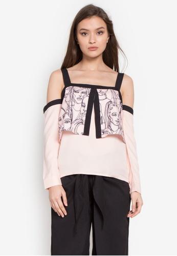 R.A.F. by Plains & Prints pink Raf Zarf Long Sleeves Top RA114AA0KG5APH_1