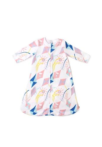 OETEO pink and multi Road Trip Easysuit Sleepbag (Pink) 3FE0AKCD859345GS_1