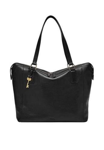 Fossil black Jacqueline Tote Leather F8862AC028707FGS_1