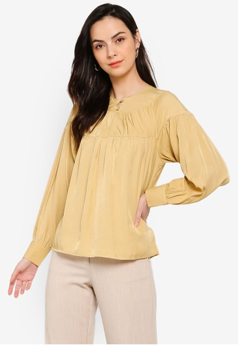 Soonaru yellow Dusky Daffodil Yellow Blouse 22F19AAEBABC06GS_1