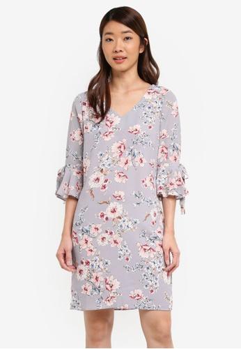 Dorothy Perkins multi Petite Cherry Blossom Shift 48796AA9DFA6B9GS_1