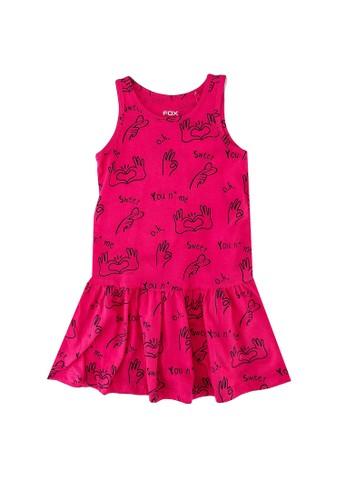 FOX Kids & Baby pink Kids Girls All Over Printed Jersey Dress 87CDBKA73B3067GS_1