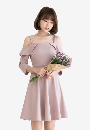 Tokichoi pink Off Shoulder Flounce Dress 8DA15AAE83F10AGS_1