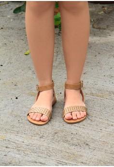 Aparador Weave Gold Sandals