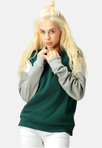 London Rag green Color Block Sweatshirt AC606AA320D399GS_1