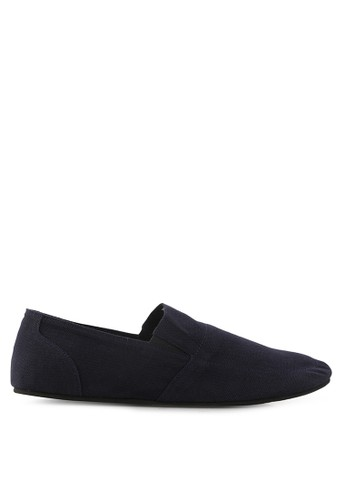 Minarno blue Blue Canvas Slip-On ND126 MI641SH42ZAVID_1