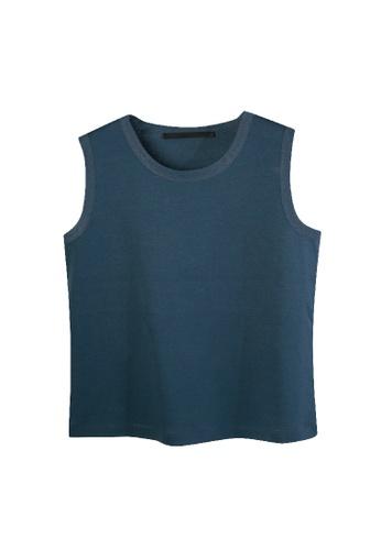 Giordano Ladies blue Mesh Trims Tank Top 3C672AAA7090DEGS_1