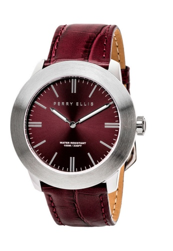 Perry Ellis red Perry Ellis Slim Line Men 46mm Quartz Watch 03003-01 9DA78AC9678B85GS_1